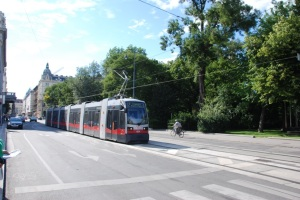 The Siemens LRT Trains used in Vienna