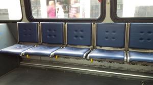 Seats that flip up