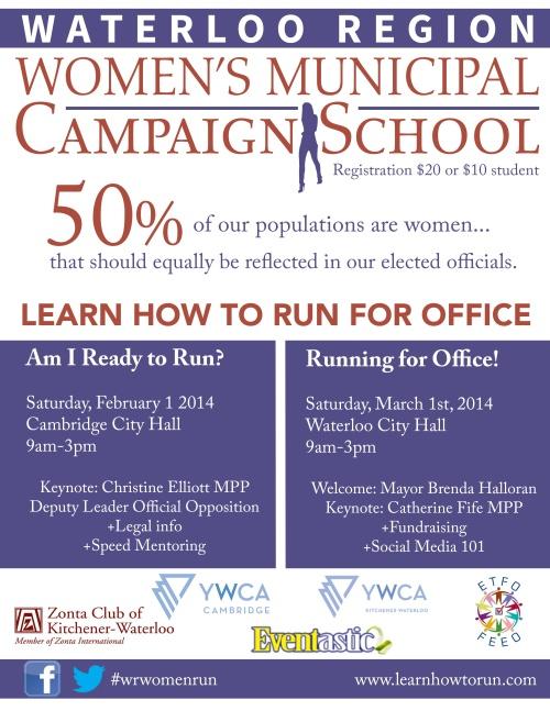 Women's Municipal Campaign School Poster