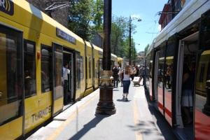 LRT platform in Istanbul