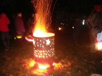 Bonfire at the Lantern Walk